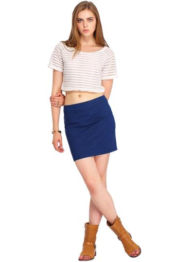 Romwe Romwe Denim Bodycon Skirt