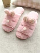Romwe Fluffy Rabbit Slippers