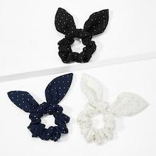 Romwe Bow Knot Hair Tie 3pack