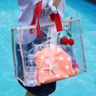 Romwe Letter Clear Storage Bag