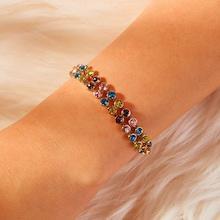 Romwe Double Layered Rhinestone Chain Bracelet 1pc