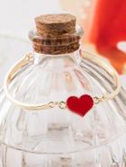 Romwe Heart Detail Bracelet