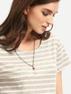 Romwe Dandelion Glass Bulb Pendant Necklace
