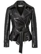 Romwe Lapel Zipper Slim Jacket With Belt