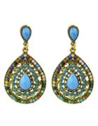 Romwe Beads Colorful Fashion Design Hanging Earrings