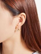 Romwe Love & Heart Design Rhinestone Stud Earrings
