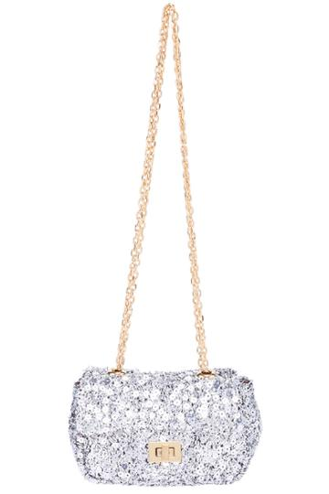 Romwe Romwe Silver Sequined Bag