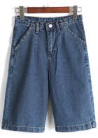 Romwe High Waist Loose Denim Shorts