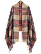 Romwe Checkered Patchwork Scarf