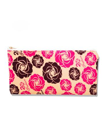 Romwe Calico Print Makeup Bag
