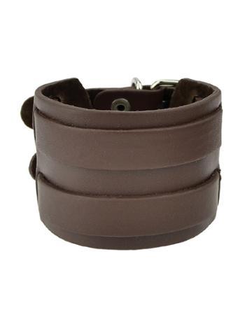 Romwe Pu Leather Bracelets Bangles