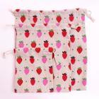 Romwe Strawberry Print Beam Storage Bag 3pcs