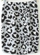 Romwe Leopard Print Bodycon Skirt