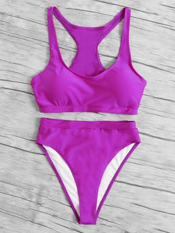 Romwe Racerback Bikini Set