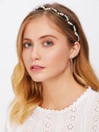 Romwe Faux Pearl Headband