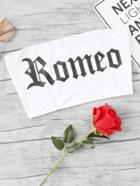 Romwe Letter Print Top
