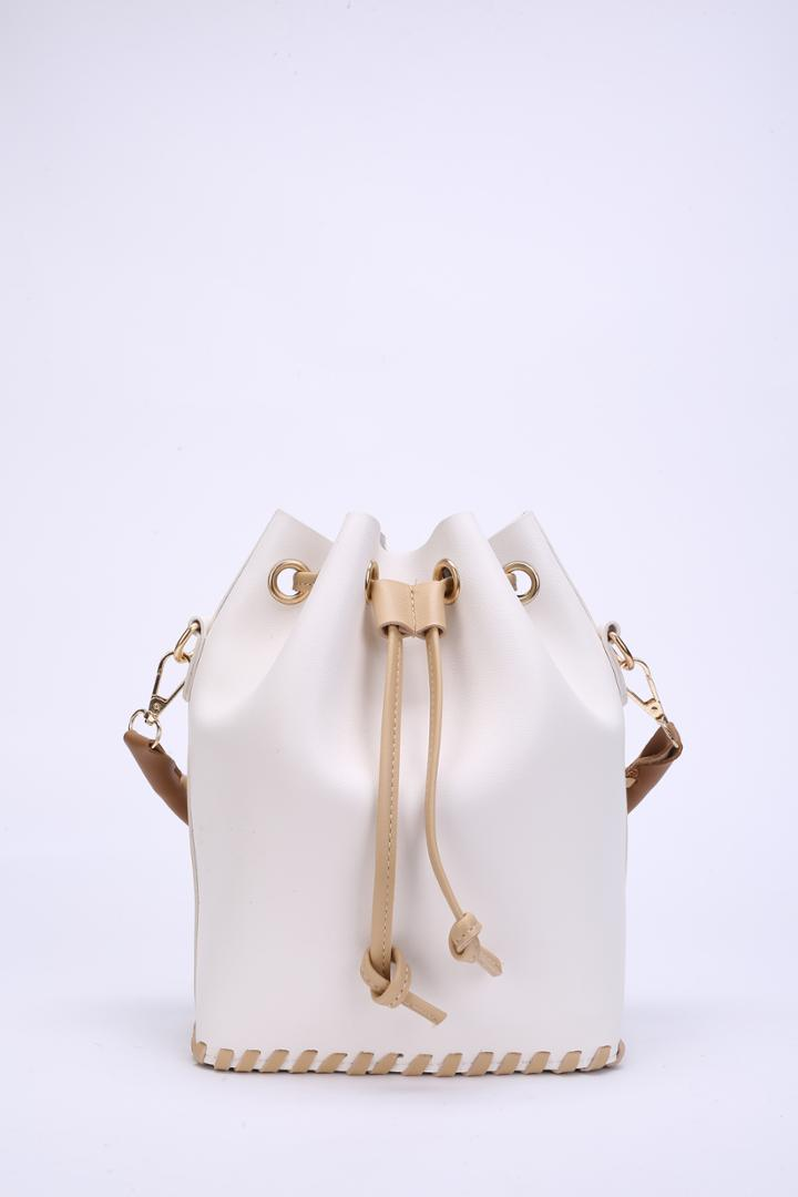 Romwe Whipstitch Design Drawstring Combination Bag