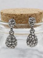 Romwe Rhinestone Dangle Earrings