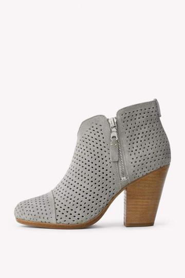 Rag & Bone - Margot Boot - Cimento Suede Perforated - 35 / 5