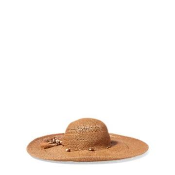 Ralph Lauren Boho Beaded Sun Hat Rustic Tan