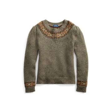 Ralph Lauren Fair Isle Wool-blend Sweater Olive Multi