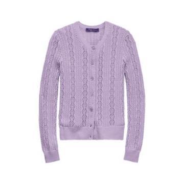 Ralph Lauren Pointelle-knit Cardigan New Lilac
