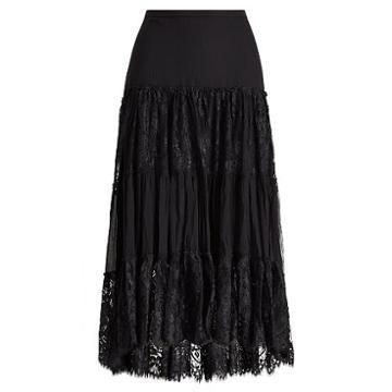 Polo Ralph Lauren Tiered Chantilly Lace Skirt