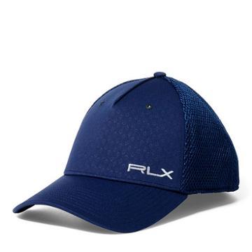 Ralph Lauren Rlx Golf Charlie Flex Fit Golf Hat French Navy Diamond Deco