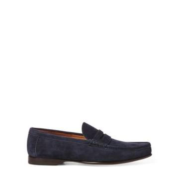 Ralph Lauren Chalmers Suede Penny Loafer Navy