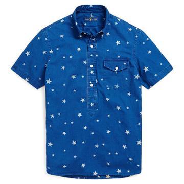 Polo Ralph Lauren Standard Fit Cotton Popover Star Print