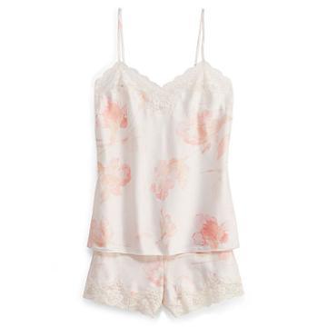 Ralph Lauren Lauren Lace-trim Sleep Short Set Pink Floral