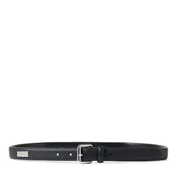 Ralph Lauren Lauren Pebbled Leather Belt Black