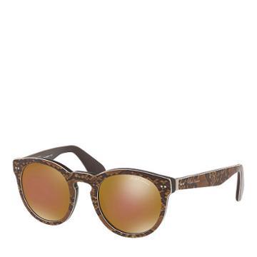 Ralph Lauren Python-print Sunglasses Brown