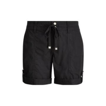 Ralph Lauren Cotton Twill Drawstring Short Polo Black
