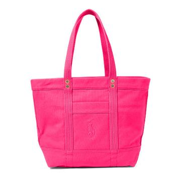 Polo Ralph Lauren Canvas Big Pony Tote Hot Pink