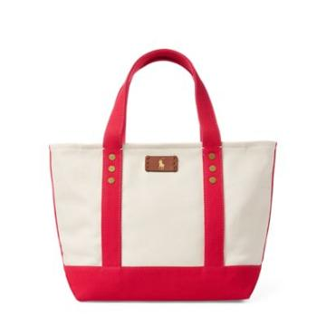 Ralph Lauren Canvas Mini Tote Bag Ecru/tropi