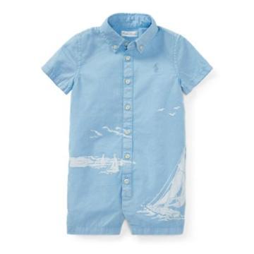 Ralph Lauren Cotton Twill Graphic Shortall Bluebell 3m