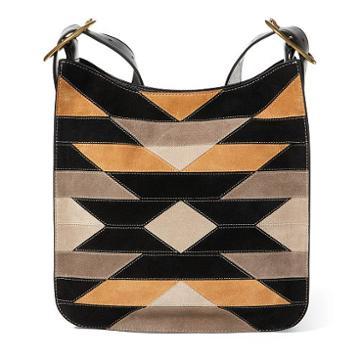 Polo Ralph Lauren Patchwork Suede Messenger Bag