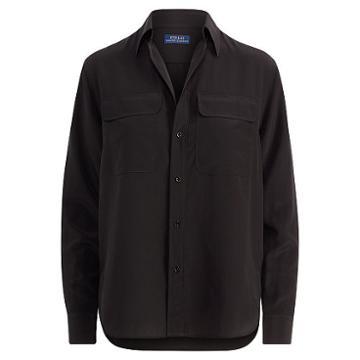Polo Ralph Lauren Silk Crepe Button-down Shirt