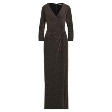Ralph Lauren Metallic Jacquard Gown Black/gold