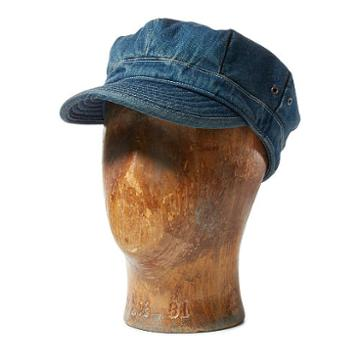 Ralph Lauren Rrl Denim Military Cap Indigo