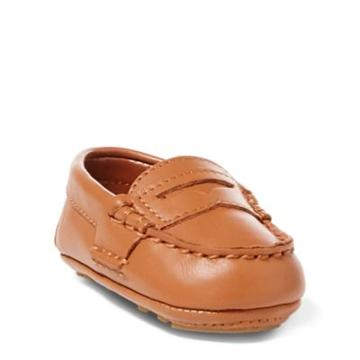 Ralph Lauren Telly Leather Loafer Tan Leather