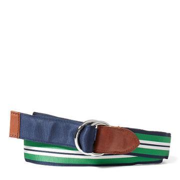 Polo Ralph Lauren Reversible Grosgrain Belt Navy/green