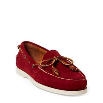 Ralph Lauren Millard Suede Boat Shoe Garnet