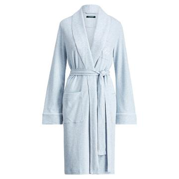 Ralph Lauren Lauren Quilted Shawl-collar Robe Chambray Heather