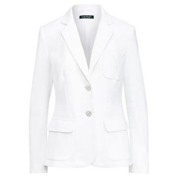 Ralph Lauren Lauren Monogram Cotton Jacket White