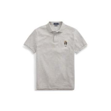 Ralph Lauren Classic Fit Bear Polo Shirt Andover Heather