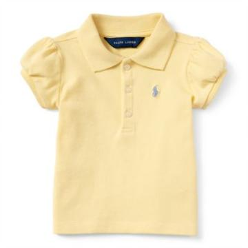 Ralph Lauren Classic Cotton Polo Shirt Wicket Yellow 9m