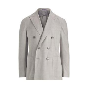 Ralph Lauren Houndstooth Twill Sport Coat Grey And Cream