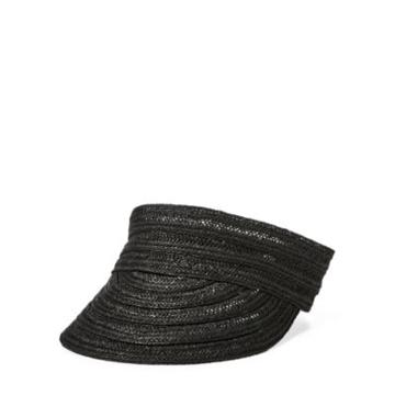 Ralph Lauren Straw Visor Black
